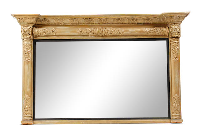 A 19th century giltwood overmantel mirror, in the Regency style