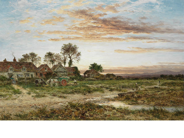Benjamin Williams Leader, RA (British, 1831-1923) Evening, Barnards Green, near Malvern