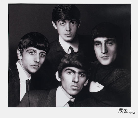 Trevor Clark (British, b.1933): A large portrait photograph of The Beatles,  1963,