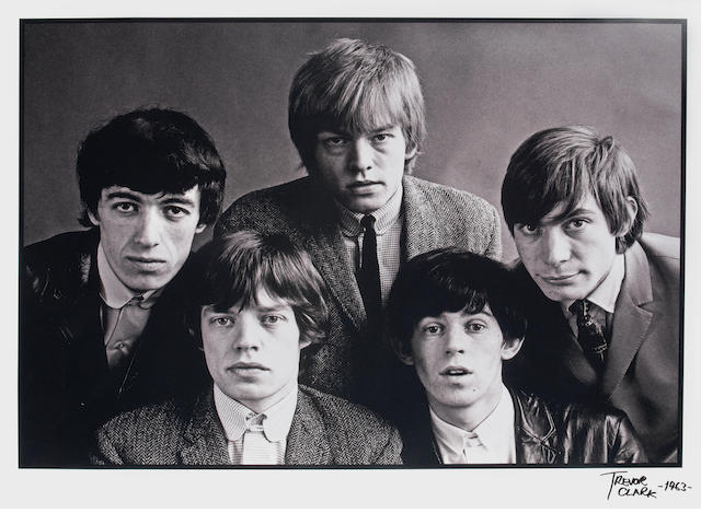 Trevor Clark (British, b.1933): A large portrait photograph of The Rolling Stones,  1963,
