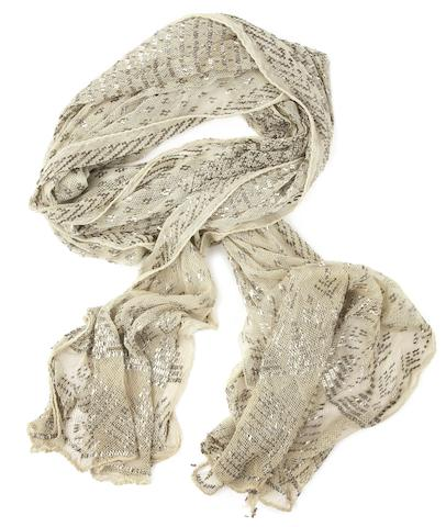Eric Clapton / Cream: A 1920s Egyptian netted scarf with silvered metal thread embellishment, 1967,