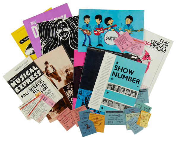 Popular 1960s Musicians: A collection of early 1960s concert programmes,