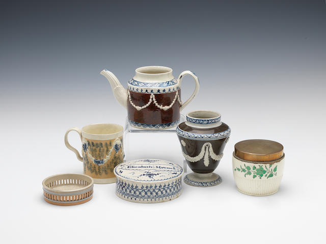 Various creamware and pearlware items,