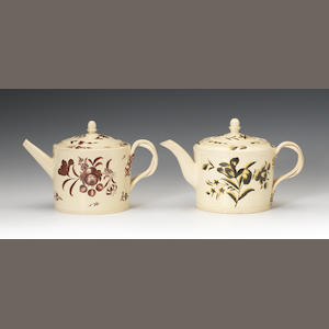 Two teapots and covers