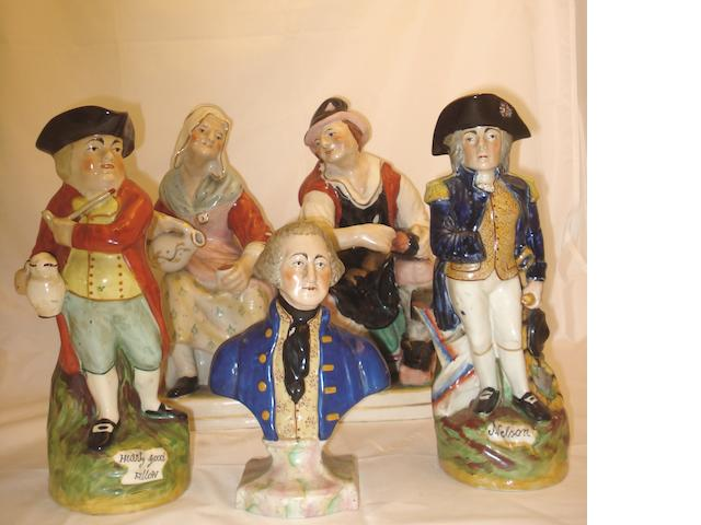 A group of Staffordshire pottery