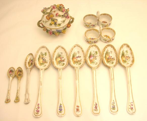 A collection of Dresden porcelain Circa 1900