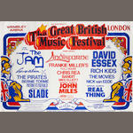 Great British Music Festival: A concert poster for the three day festival, 1978,