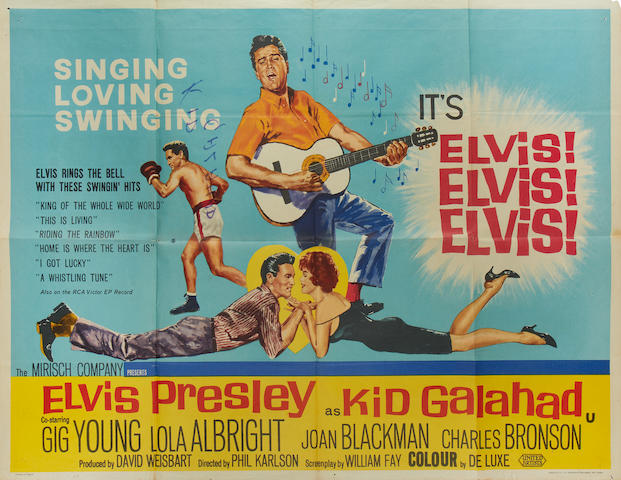 Elvis Presley: A collection of three British quad posters, titles including: 3