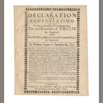 PRYNNE (WILLIAM) A Declaration and Protestation Against the Illegal, Detestable, Oft-Condemened, New Tax and Extortion of Excise in General; and for Hops (a Native Incertain Commodity) in Particular, 1654; and 4 others by Prynne (5)
