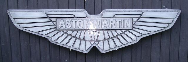 An Aston Martin winged badge display emblem,