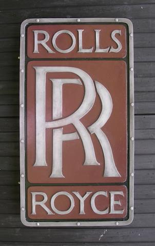 A Rolls-Royce badge garage display emblem,