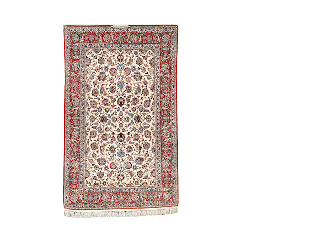 An Isfahan rug, Central Persia, 220cm x 136cm signed