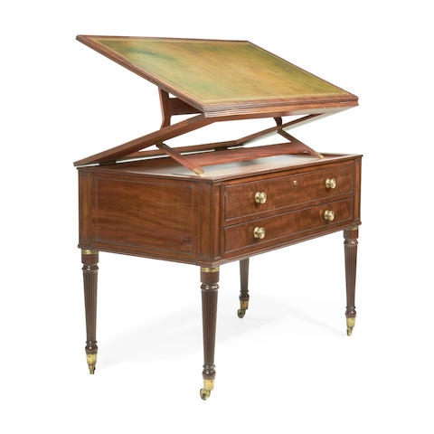 A Regency mahogany architect's table  attributed to Gillows