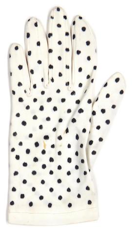 Prince: A polka dot glove,
