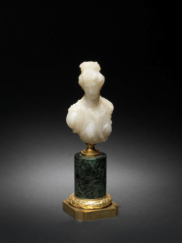 An Italian late 16th / early 17th century carved hardstone bust of Venuspossibly Milan