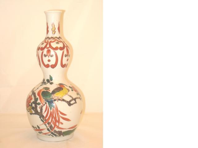 A European Chinese style double Gourd vase Circa 1900