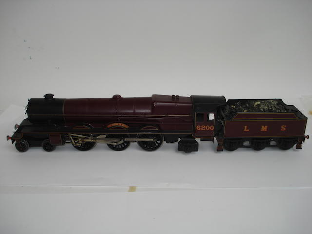 Hand built electric LMS 4-6-2 The Princess Royal locomotive and tender