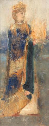 Fernand Khnopff (Belgian, 1858-1921) Magicienne
