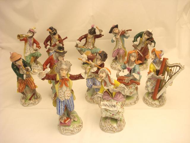 A Dresden twelve piece monkey orchestra 20th century