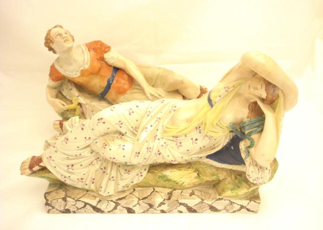 A pair of Staffordshire figures depicting Anthony and Cleopatra Circa 1810