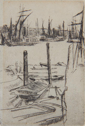 James Abbott McNeill Whistler (American, 1834-1903) The Tiny Pool Etching and drypoint, 1879, the third and final state, with full margins, 97 x 65mm (4 x 2 5/8in)