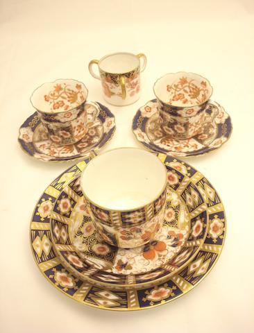 A Royal Crown Derby style Imari pattern teaset Circa 1900