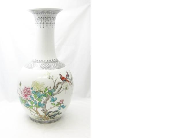 A large famille rose vase 20th century