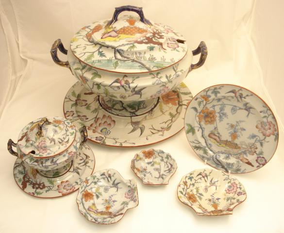 An extensive Clews ironstone polychrome dinner service Circa 1830-40
