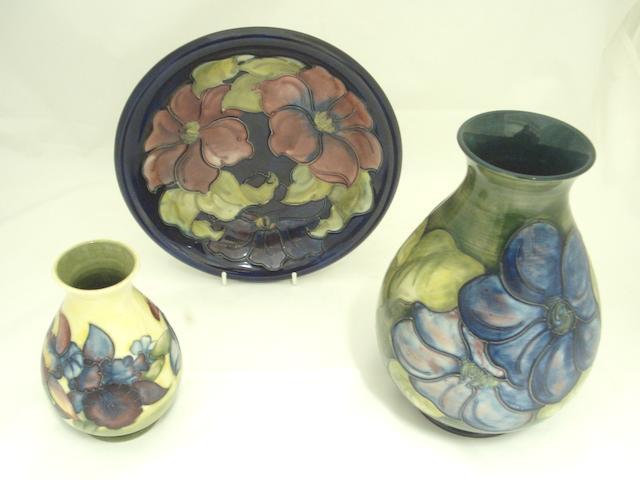 Three pieces of Walter Moorcroft pottery