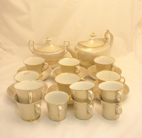 A gilt decorated tea set Early 19th century
