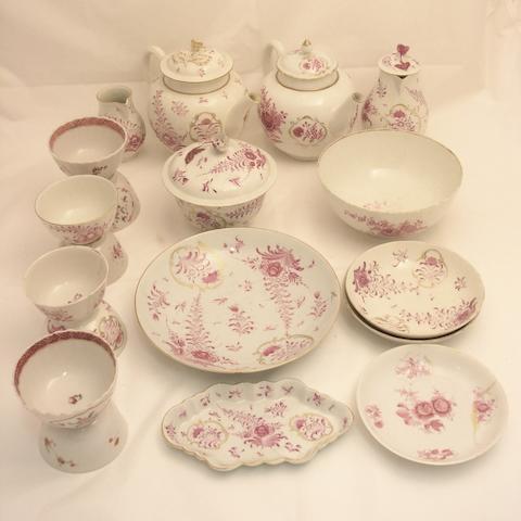 An assocaited part tea set Late 18th century