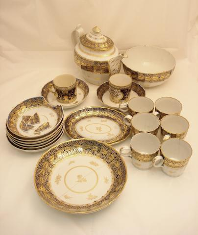 A part tea set Late 18th century