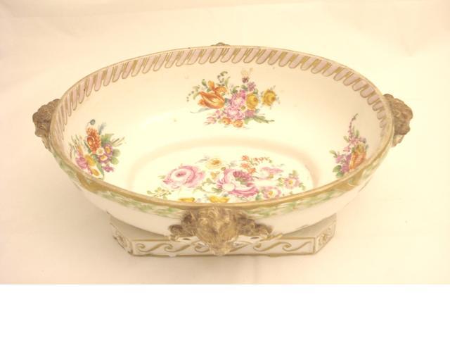 A Dresden porcelain bowl Circa 1900