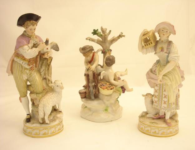 Three Meissen figures Circa 1900