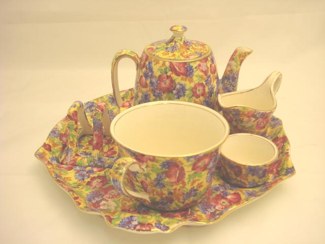 A Royal Winton 'Chintz' breakfast set for one