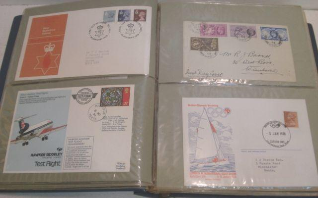 Stamps - a large collection of Great Britain 1st Day covers in 11 albums, a large collection of Isle of Man 1st Day covers, 1973-1981, Air Letters, postcards, Presentation packs and mini sheets in two albums, and a collection of Isle of Man Presentation packs, 1973-1981, in an album.