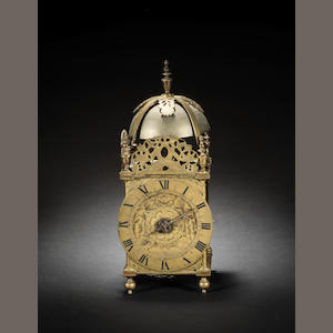 A third quarter of the 17th century brass lantern clock with the 'Matchstick Man' casting marks  Anonymous 2