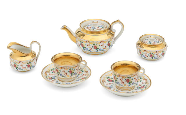 A Russian miniature tea service, circa 1850-1870