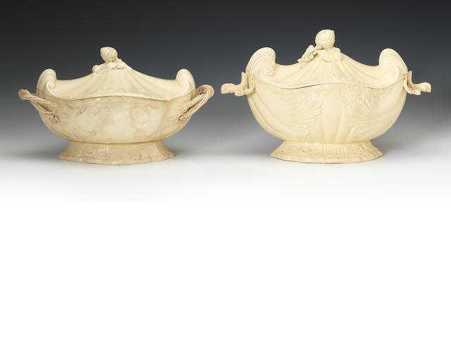 Two Wedgwood soup tureens and covers, circa 1770-75