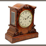 A figured walnut Victorian twin-fusee bracket clock Thomas Pung, Kings Lynn