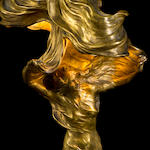 "Lamp representing Loie Fuller byRaoul Larche signed and marked ""Siot Decauville Fondeur Paris"""