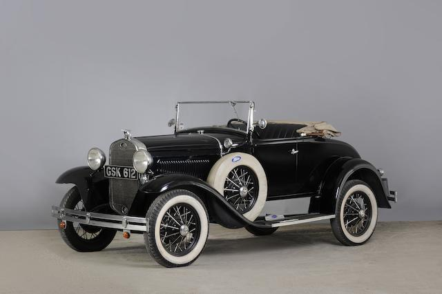 1931 Ford Model A Roadster  Chassis no. A290045