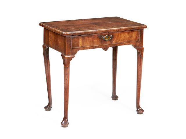 A George II walnut side table