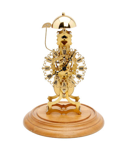 An early 20th century French skeleton clock with passing strike Anonymous