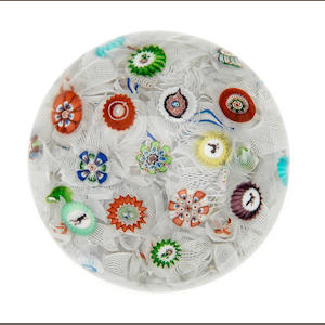 A Baccarat dated spaced millefiori paperweight, dated 1848