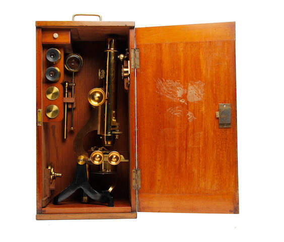 An early 20th century compound binocular microscope Anonymous