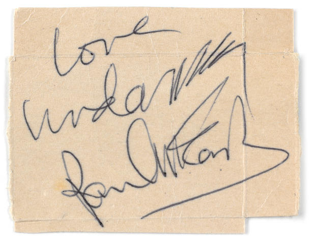 Paul & Linda McCartney: A signed cigarette packet,  New Years Eve 1982/1983,