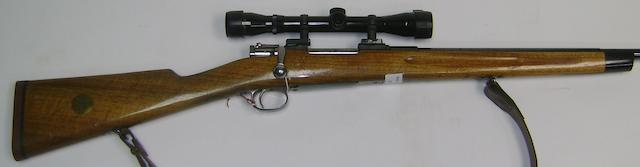 A 6.5x55mm Mauser sporting rifle, no. 118765