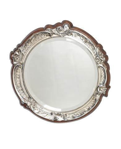 A silver mounted mirror by William Hutton & Sons Ltd, Sheffield 1907