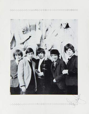 The Rolling Stones: A Rolling Stones concert programme autographed by Brian Jones, 1964,